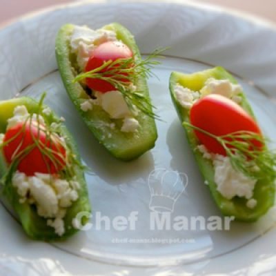 Light Zucchini Appetizer