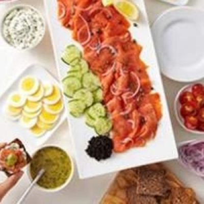 Cured or Smoked Salmon Appetizer Platter recipes