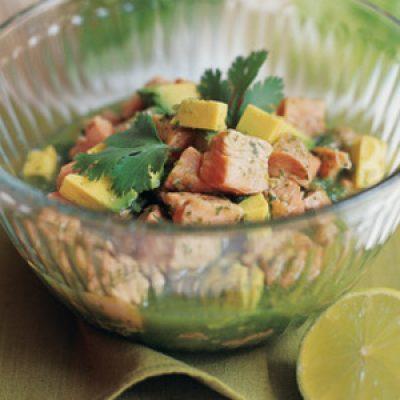 Ceviche Salad with Avocado, Cilantro and Green Chile