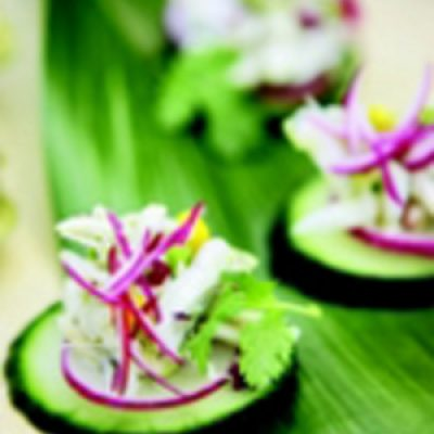 Cucumber and Crab Stacks