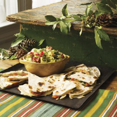 Roasted Red and Green Pepper Quesadillas