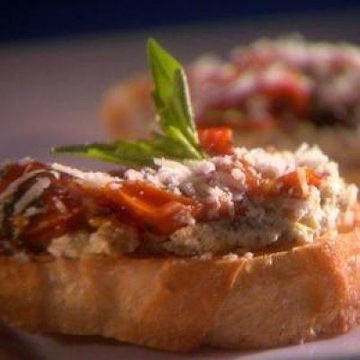Three Cheese Crostini Appetizer