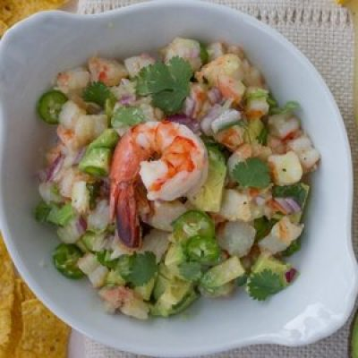 Lemon Shrimp Ceviche