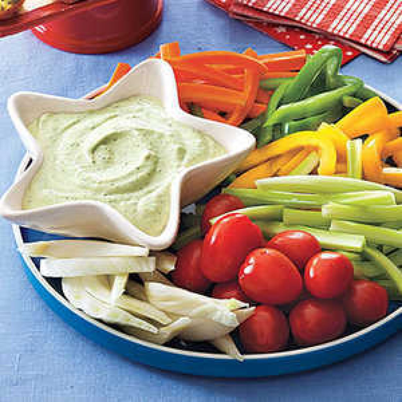 Green Goddess Dip with Crudités