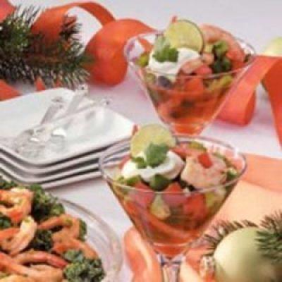 Gazpacho Shrimp Appetizer Recipe