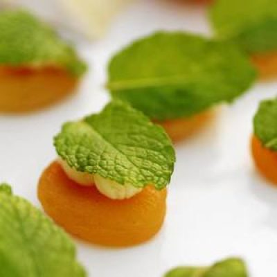 Apricots with St. André and Mint Recipe
