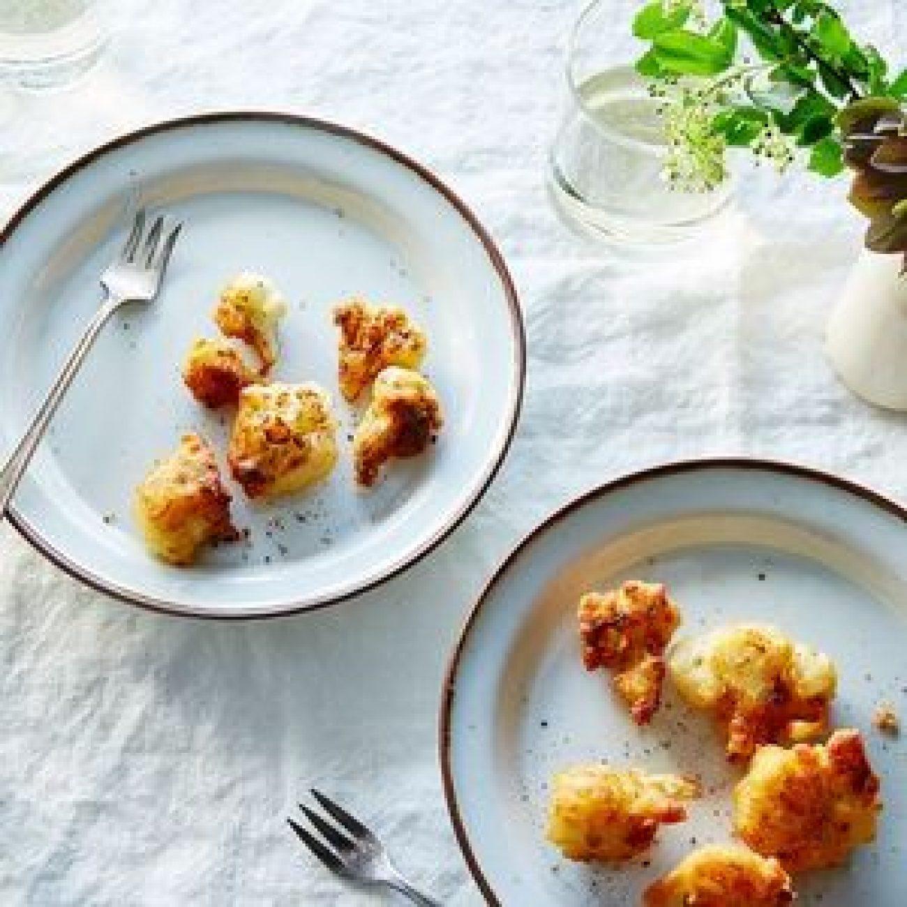 Fried Cauliflower in Parmesan Batter