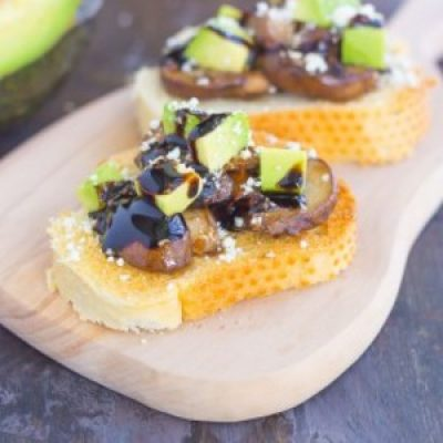 Mushroom, Avocado and Feta Toast