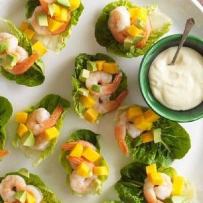Shrimp Appetizers with Melon