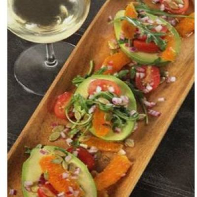 Avocado with Blood Orange and Pumpkin Seeds