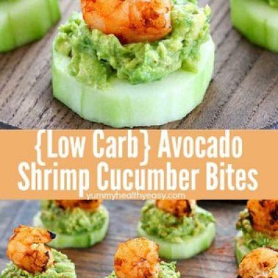 Low Carb Avocado Shrimp Cucumber Appetizer