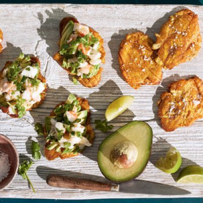 Lobster Salad with Tostones